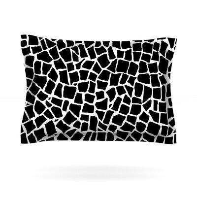 Project M British Mosaic Black Featherweight Sham Size: King, Color: Black, Fabric: Cotton