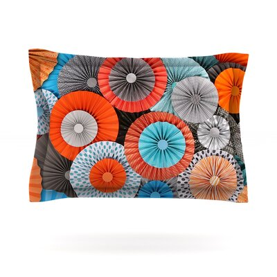 Heidi Jennings Breaking Free Orange Blue Featherweight Sham Size: King, Fabric: Cotton