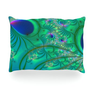 Fractal Outdoor Throw Pillow Size: 14 H x 20 W x 3 D