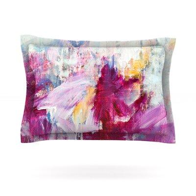 Iris Lehnhardt Magenta Pink Paint Featherweight Sham Size: Standard