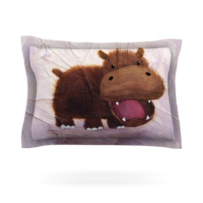 Rachel Kokko The Happy Hippo Featherweight Sham Size: King, Fabric: Cotton