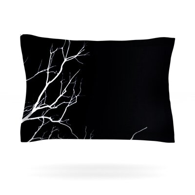 Skye Zambrana Winter Black Featherweight Sham Size: Standard, Color: Black, Fabric: Cotton