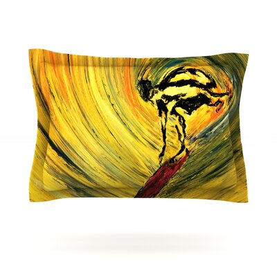 Josh Serafin Suppose Yellow Black Featherweight Sham Size: Standard, Fabric: Cotton