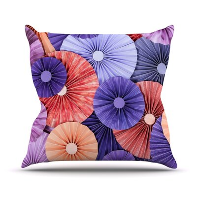 Raspberry Sherbert Outdoor Throw Pillow Size: 26 H x 26 W x 4 D