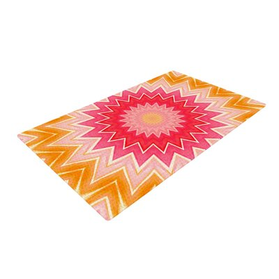 You are my Sunshine Pink/Orange Area Rug Rug Size: 4' x 6'