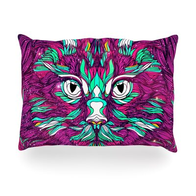 Space Cat Outdoor Throw Pillow Size: 14 H x 20 W x 3 D