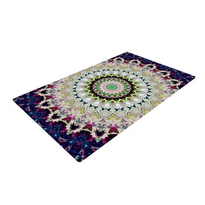 Summer of Folklore Pink/Navy Area Rug Rug Size: 2 x 3