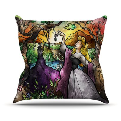 I Know You Fairytale Forest Indoor/Outdoor Throw Pillow Size: 26 H x 26 W x 4 D