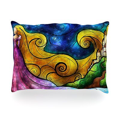 Starry Lights Outdoor Throw Pillow Size: 14 H x 20 W x 3 D