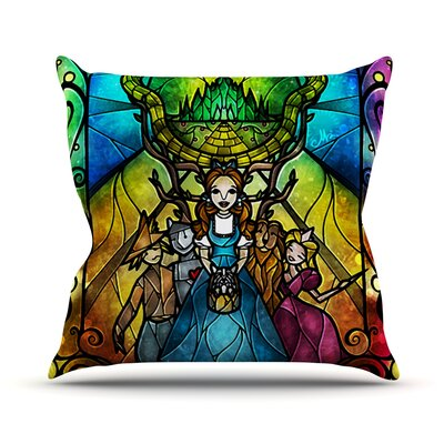 Wizard of Oz Fantasy Outdoor Throw Pillow Size: 18 H x 18 W x 3 D