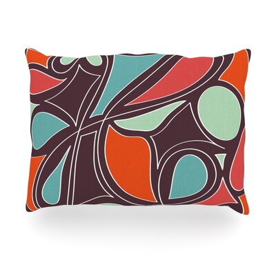 Retro Swirl Outdoor Throw Pillow Size: 14 H x 20 W x 3 D
