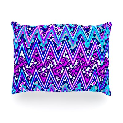 Electric Chevron Outdoor Throw Pillow Size: 14 H x 20 W x 3 D