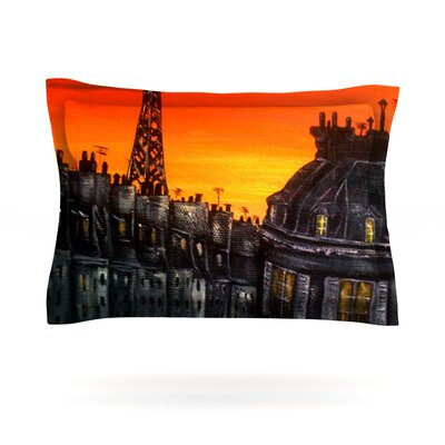 Christen Treat Paris Featherweight Sham Size: King, Fabric: Cotton