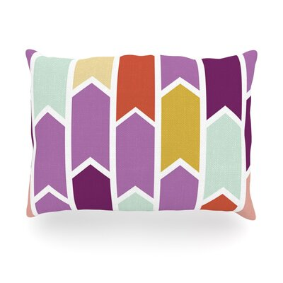 Orchid Geometric Chevron Arrows Outdoor Throw Pillow Size: 14 H x 20 W x 3 D