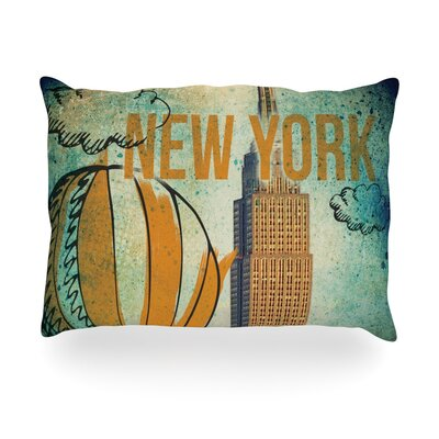 New York Outdoor Throw Pillow Size: 14 H x 20 W x 3 D
