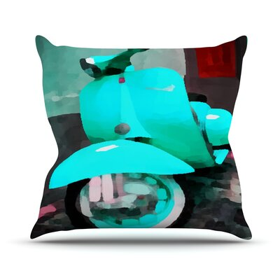 Vespa I Outdoor Throw Pillow Size: 18 H x 18 W x 3 D