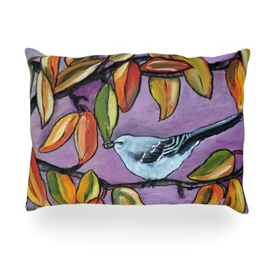 Mockingbird Outdoor Throw Pillow Size: 14 H x 20 W x 3 D