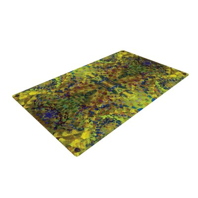 Yellow Jacket Green Area Rug Rug Size: 4 x 6