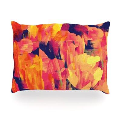 Geo Flower Outdoor Throw Pillow Size: 14 H x 20 W x 3 D