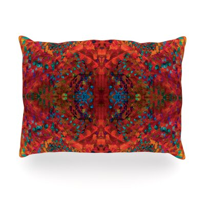 Abstract Outdoor Throw Pillow Size: 14 H x 20 W x 3 D