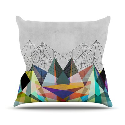 Colorflash 3X Rainbow Outdoor Throw Pillow Size: 16 H x 16 W x 3 D