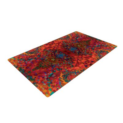 Red Sea Orange Abstract Area Rug Rug Size: 2 x 3