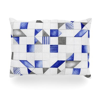 Winter Geometry Outdoor Throw Pillow Size: 14 H x 20 W x 3 D