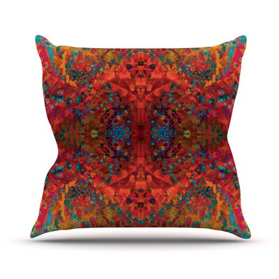 Red Sea Abstract Outdoor Throw Pillow Size: 16 H x 16 W x 3 D