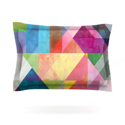 Mareike Boehmer Color Blocking Rainbow Abstract Featherweight Sham Size: Standard, Fabric: Cotton
