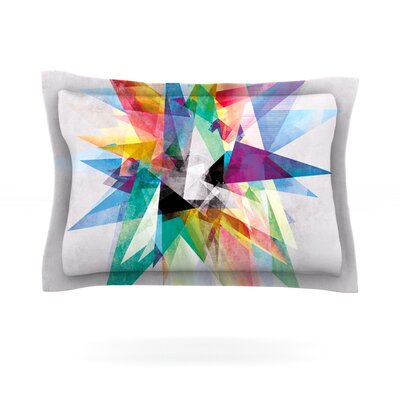 Mareike Boehmer Colorful Rainbow Abstract Featherweight Sham Size: King, Fabric: Cotton