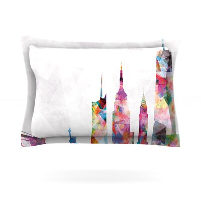 Mareike Boehmer New York Rainbow City Featherweight Sham Size: King