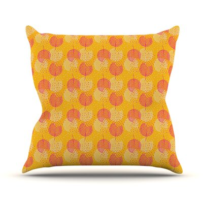 Wild Summer Dandelions Circles Outdoor Throw Pillow Size: 16 H x 16 W x 3 D
