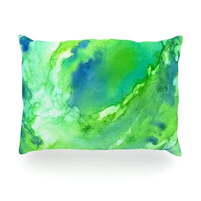 Touch of Blue Outdoor Throw Pillow Size: 14 H x 20 W x 3 D