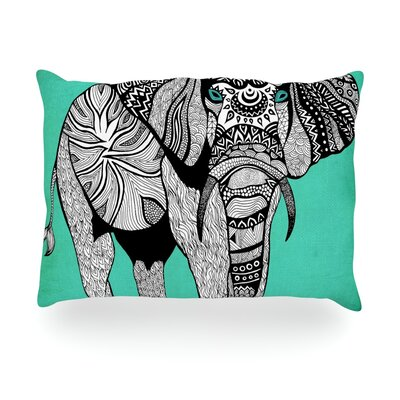 Elephant of Namibia Outdoor Throw Pillow Size: 14 H x 20 W x 3 D