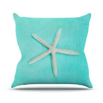 Starfish Throw Pillow Size: 16