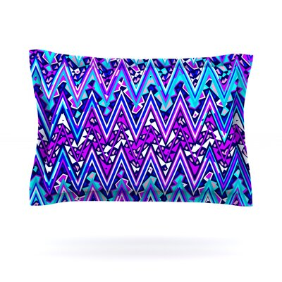 Nika Martinez Blue Electric Chevron Featherweight Sham Size: King, Fabric: Cotton