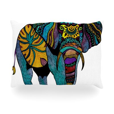 "Kess InHouse Elephant of Namibia Outdoor Throw Pillow - Size: 14"" H x 20"" W x 3"" D at Sears.com"