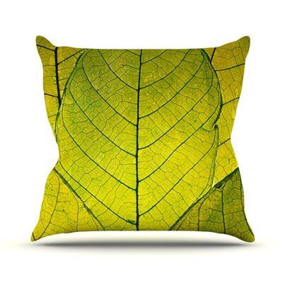 Every Leaf a Flower Outdoor Throw Pillow Size: 18 H x 18 W x 3 D