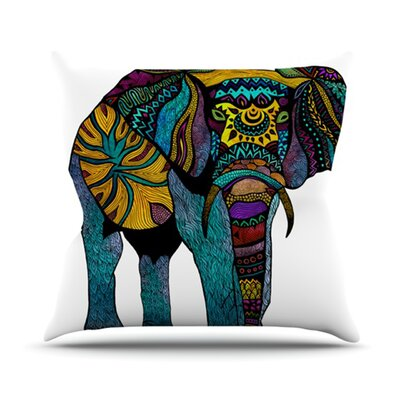 Elephant of Namibia Outdoor Throw Pillow Size: 16 H x 16 W x 3 D