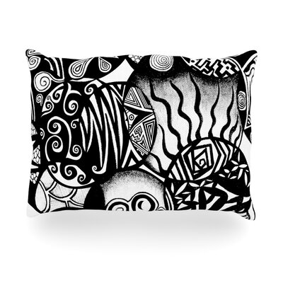 Circles and Life Outdoor Throw Pillow Size: 14 H x 20 W x 3 D