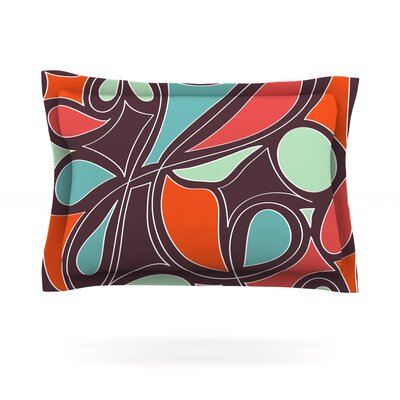 Miranda Mol Retro Swirl Featherweight Sham Size: King, Fabric: Cotton