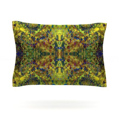 Nikposium Yellow Jacket Green Abstract Featherweight Sham Size: Standard