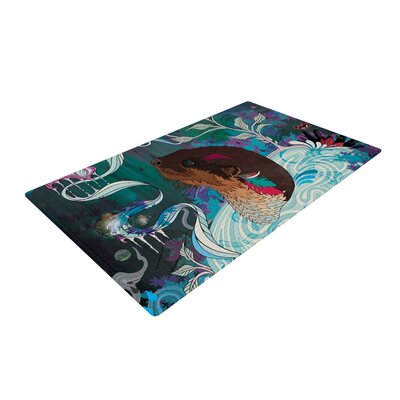 Delicate Distraction Otter Novelty Rug Rug Size: 2 x 3
