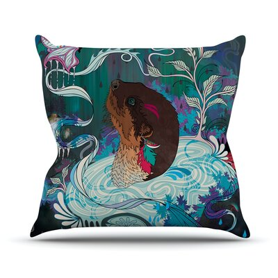 Delicate Distraction by Mat Miller Otter Throw Pillow Size: 18 H x 18 W x 3 D