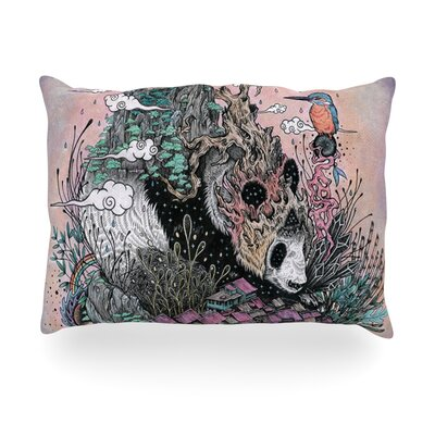 Land of The Sleeping Giant Panda Outdoor Throw Pillow Size: 14 H x 20 W x 3 D