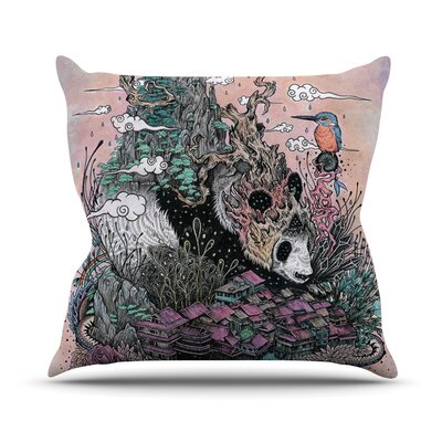 Land of The Sleeping Giant Panda Outdoor Throw Pillow Size: 16 H x 16 W x 3 D