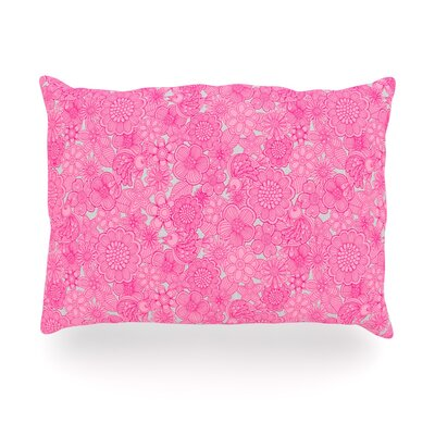 "Kess InHouse Welcome Birds To My Pink Garden Outdoor Throw Pillow - Size: 14"" H x 20"" W x 3"" D at Sears.com"