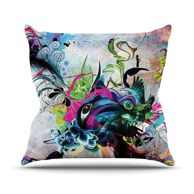 Streaming Eyes by Mat Miller Abstract Throw Pillow Size: 20 H x 20 W x 4 D