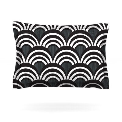 Nicole Ketchum Art Deco Black Featherweight Sham Size: King, Color: Black, Fabric: Cotton