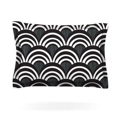 Nicole Ketchum Art Deco Black Featherweight Sham Color: Black, Size: King, Fabric: Cotton